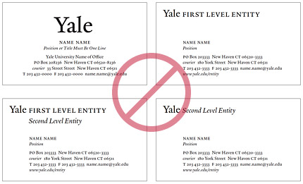 Visual identity for the yale library templated design stationery library business card format colourmoves